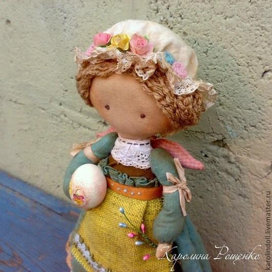 Коллекционные куклы ручной работы. Ярмарка Мастеров - ручная работа. Купить Светлый Праздник. Handmade. Бирюзовый, деревянное яйцо, дерево