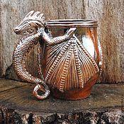 """Посуда ручной работы. Ярмарка Мастеров - ручная работа Кружка """" Огненный Дракон"""". Handmade."""