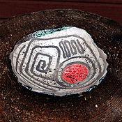 Посуда ручной работы. Ярмарка Мастеров - ручная работа Тарелка керамическая раку маленькая. Handmade.