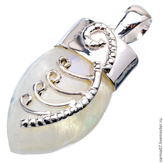 Для украшений ручной работы. Ярмарка Мастеров - ручная работа. Купить Подвеска кулон серебро лунный камень ( адуляр , полевой шпат ) 3. Handmade.