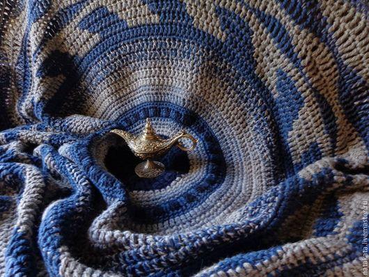 """Текстиль, ковры ручной работы. Ярмарка Мастеров - ручная работа. Купить Плед """"Джинсовая рапсодия"""". Handmade. Джинс, джинсовая рапсодия"""
