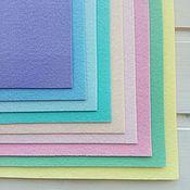 Материалы для творчества handmade. Livemaster - original item Set of hard felt Pastels 9 colors 20h30. Art.1374. Handmade.