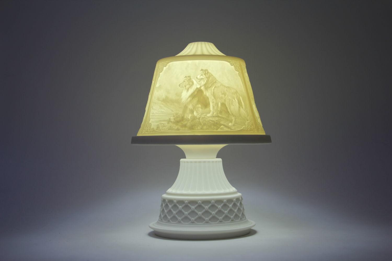 """Фарфоровый светильник литофания """"Собаки"""", Статуэтки, Коломна, Фото №1"""