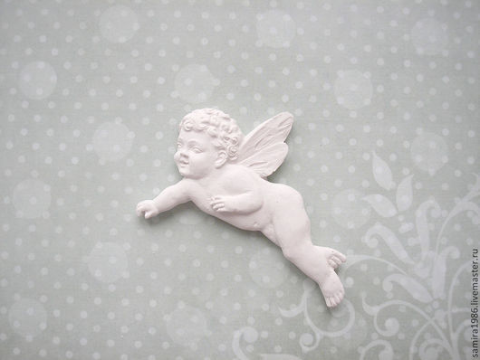 Открытки и скрапбукинг ручной работы. Ярмарка Мастеров - ручная работа. Купить Летящий ангел. Handmade. Белый, ангелочек, ангелок