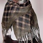 """Аксессуары ручной работы. Ярмарка Мастеров - ручная работа Шарф женский валяный в клетку """"Эдинбург.""""Шотландия.. Handmade."""