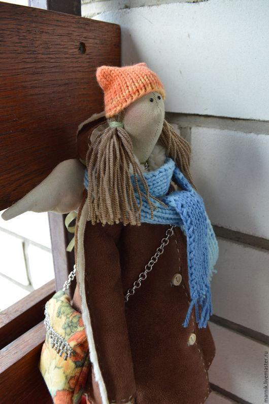 Куклы Тильды ручной работы. Ярмарка Мастеров - ручная работа. Купить Зимний ангел Настюша. Handmade. Разноцветный, кукла текстильная