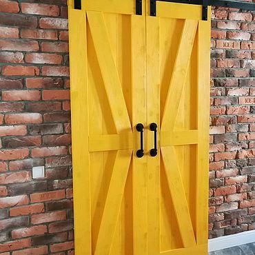 """Для дома и интерьера ручной работы. Ярмарка Мастеров - ручная работа Амбарная дверь """"Сочный лофт"""". Handmade."""