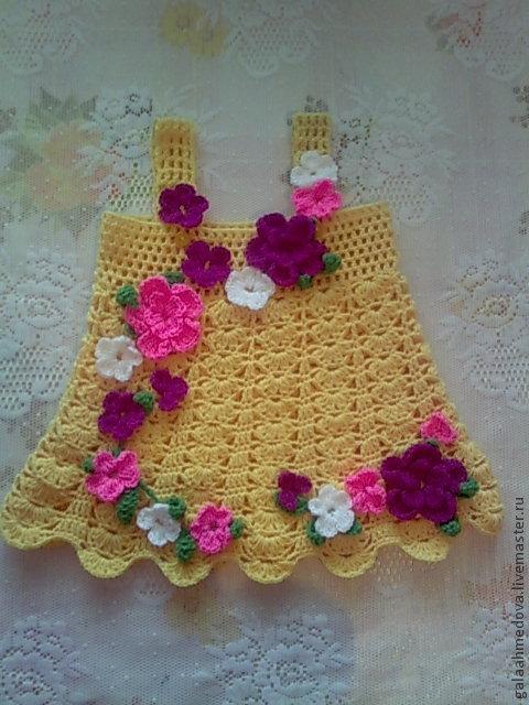 красивый сарафан, сарафан для девочки, купить нарядный сарафан, детский, платье для девочки, теплый сарафан, для малышки, праздничное, вязаный сарафан, ручное вязание, купить платье для девочки, в подарок