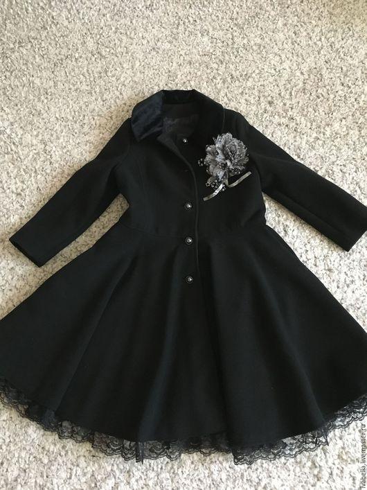 """Одежда для девочек, ручной работы. Ярмарка Мастеров - ручная работа. Купить Пальто """"Маленькая леди"""". Handmade. Черный, пальто на заказ"""