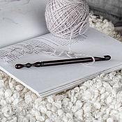 Материалы для творчества handmade. Livemaster - original item 8mm Cedar Wood Knitting Hook. K284. Handmade.