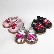 Материалы для творчества handmade. Livemaster - original item Accessories for dolls and toys: Shoes for dolls 7,5 cm. Handmade.