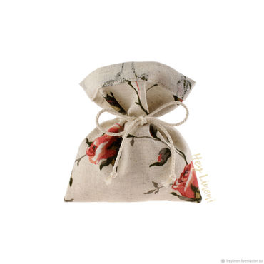 Souvenirs and gifts handmade. Livemaster - original item 10h12sm10sht. Bags, linen, beige, with roses. Handmade.