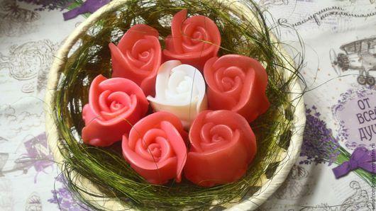 """Мыло ручной работы. Ярмарка Мастеров - ручная работа. Купить """"Розы в корзине""""// набор мыльных роз//подарок. Handmade. Ярко-красный"""