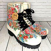 Обувь ручной работы handmade. Livemaster - original item Shoes Flowers. Handmade.