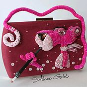Сумки и аксессуары handmade. Livemaster - original item The Pink Panther.  Handbag. Handmade.
