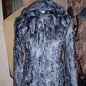 Одежда ручной работы. Ярмарка Мастеров - ручная работа Шуба    Каракуль серый. Handmade.