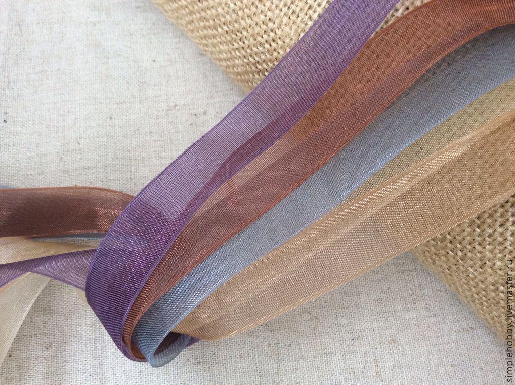 Лента органза 15 мм, Отделка для шитья, Москва,  Фото №1