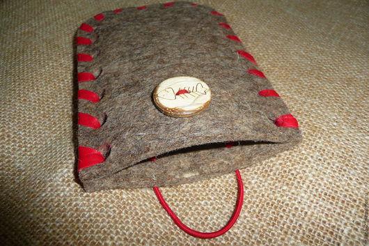 Для телефонов ручной работы. Ярмарка Мастеров - ручная работа. Купить Войлочный чехол/сумочка для телефона. Handmade. Для смартфона