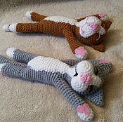 Схемы для вязания ручной работы. Ярмарка Мастеров - ручная работа Мастер-класс Спящий котик. Handmade.