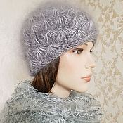Аксессуары handmade. Livemaster - original item Women`s down hat beanie Hats knitted women`s warm down hats. Handmade.