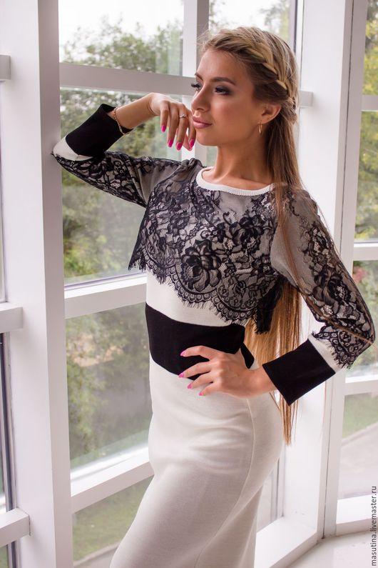 """Платья ручной работы. Ярмарка Мастеров - ручная работа. Купить Платье """"Франция"""". Handmade. Чёрно-белый, масютина олеся"""