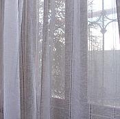 Для дома и интерьера ручной работы. Ярмарка Мастеров - ручная работа Льняные шторы  с мережкой Текстиль для дома  Тюль. Handmade.