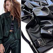 Материалы для творчества handmade. Livemaster - original item Fabric: Eco leather on suede black. Handmade.