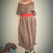 Одежда ручной работы. Ярмарка Мастеров - ручная работа Теплое вязаное платье. Handmade.