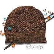 Аксессуары ручной работы. Ярмарка Мастеров - ручная работа Вязаная теплая, легкая, женская шапка (шапка бини) из 100% мериноса. Handmade.