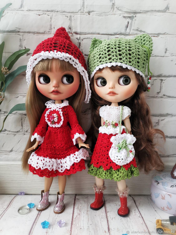 Одежда куклы Блайз Blythe платье и шапочка, Одежда для кукол, Москва,  Фото №1