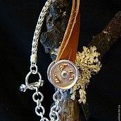 Украшения handmade. Livemaster - original item Bracelet silver gold leather amethyst. Handmade.