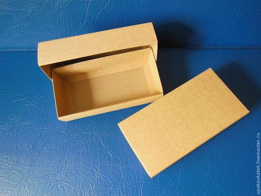 Упаковка ручной работы. Ярмарка Мастеров - ручная работа. Купить Крафт-коробочка 10х20х5 см. Handmade. Коричневый, крафт