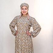 Одежда ручной работы. Ярмарка Мастеров - ручная работа Платье из штапеля в русском стиле. Handmade.