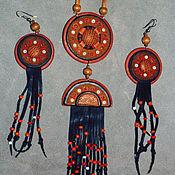 Украшения ручной работы. Ярмарка Мастеров - ручная работа Коллекция этнических украшений из кожи. Handmade.