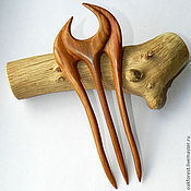 Украшения handmade. Livemaster - original item Barrette hair clip wood