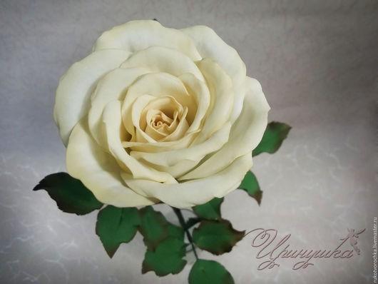 """Интерьерные композиции ручной работы. Ярмарка Мастеров - ручная работа. Купить Интерьерная бутонная роза из фоамирана""""Сливочный десерт"""". Handmade."""