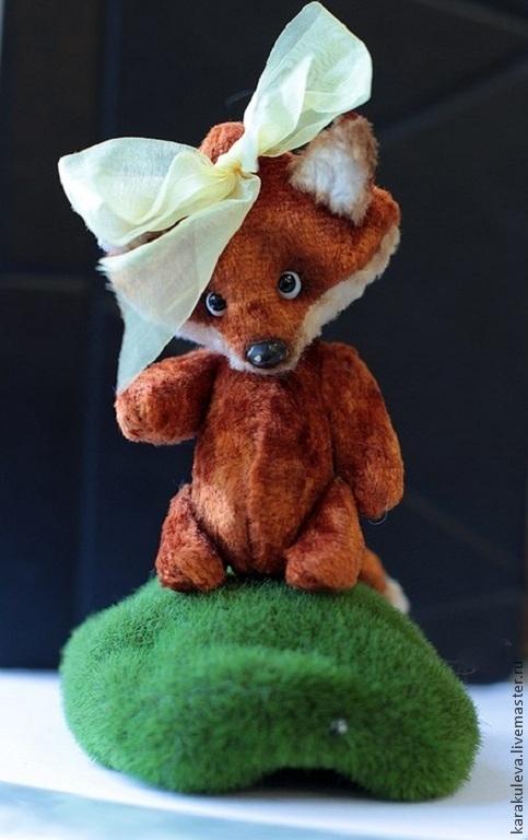 Мишки Тедди ручной работы. Ярмарка Мастеров - ручная работа. Купить Лиса ЛИЗУША. Handmade. Рыжий, лис, плюш, пластика