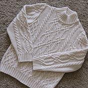 """Работы для детей, ручной работы. Ярмарка Мастеров - ручная работа Кашемировый детский свитер """"Араны"""". Handmade."""