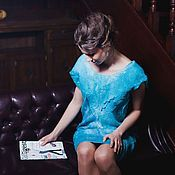 Одежда handmade. Livemaster - original item Turquoise felted dress