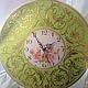 Часы для дома ручной работы. Ярмарка Мастеров - ручная работа. Купить Настенные часы Вальс в салатовом. Handmade. Часы