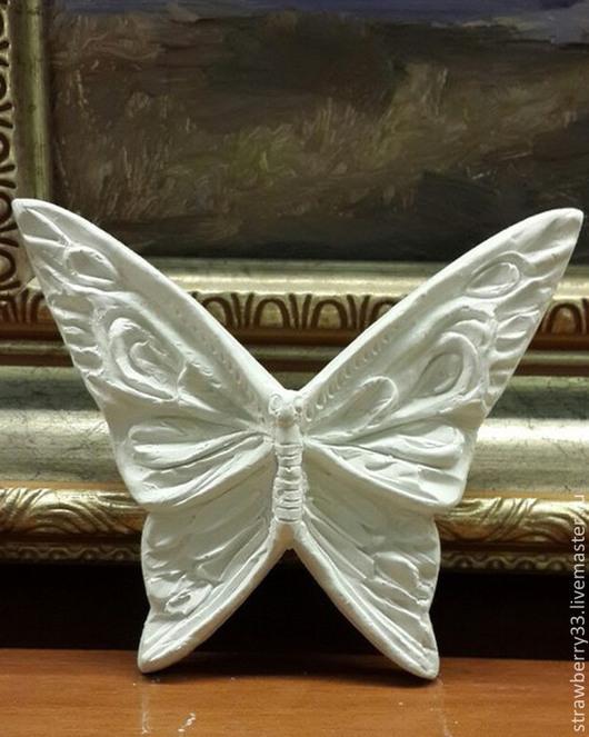 """Детская ручной работы. Ярмарка Мастеров - ручная работа. Купить Гипсовые раскраски """"Бабочки"""". Handmade. Белый, декор для интерьера"""