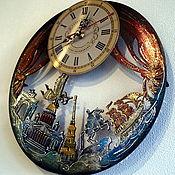 Для дома и интерьера handmade. Livemaster - original item Unique gift wall clock with the image of St. Petersburg. Handmade.