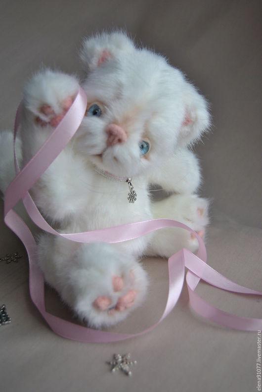 Мишки Тедди ручной работы. Ярмарка Мастеров - ручная работа. Купить Тедди котенок Снежинка. Handmade. Тедди котенок