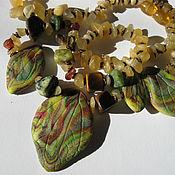 """Украшения ручной работы. Ярмарка Мастеров - ручная работа Ожерелье """"Теплая осень"""" натуральные камни, декор ручной работы, медь. Handmade."""