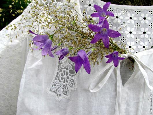 Большие размеры ручной работы. Ярмарка Мастеров - ручная работа. Купить Колокольчик луговой бохо блуза-туника. Handmade.