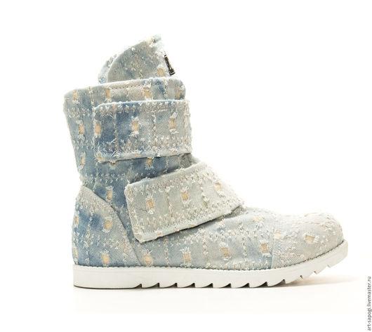 Обувь ручной работы. Ярмарка Мастеров - ручная работа. Купить Летние ботинки 6-157 (СБ). Handmade. летние сапоги