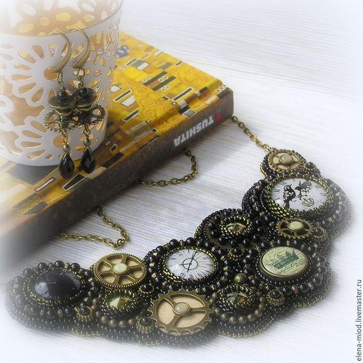 """Колье, бусы ручной работы. Ярмарка Мастеров - ручная работа. Купить Колье """"Timeless"""" (Swarovski) + серьги в подарок. Handmade."""