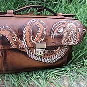 Сумки и аксессуары ручной работы. Ярмарка Мастеров - ручная работа кожаная сумка со змеей. Handmade.