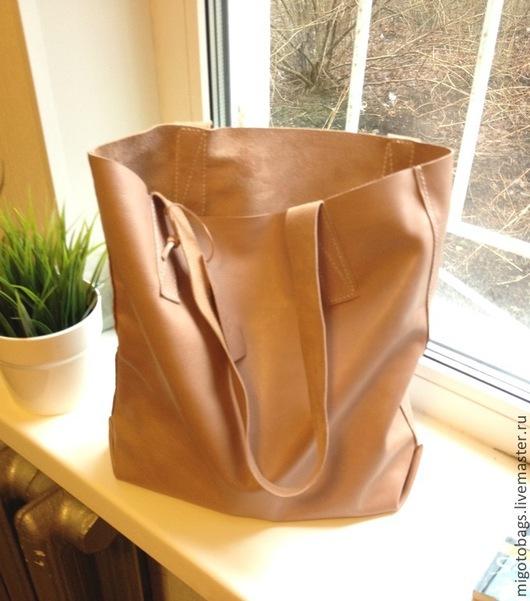 Женские сумки ручной работы. Ярмарка Мастеров - ручная работа. Купить Tote bag (карамельный, коричневый). Handmade. Коричневый, подарок
