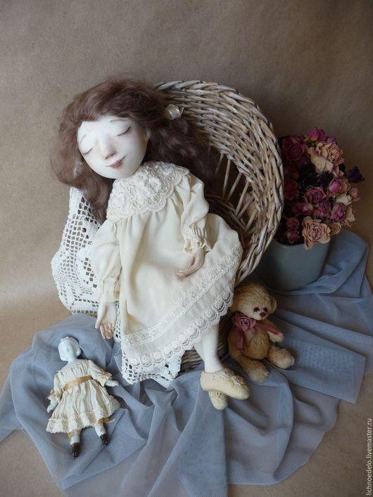 Коллекционные куклы ручной работы. Ярмарка Мастеров - ручная работа. Купить Sweet Dream ...Подвижная кукла. Handmade. Бежевый, мечта